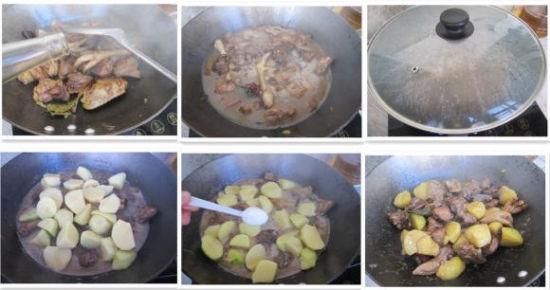 土豆炖鸡块做法