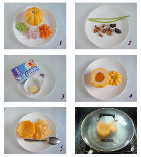 原盅奶油南瓜浓汤做法