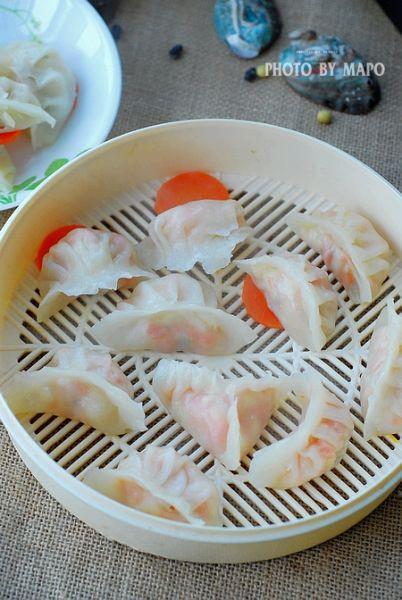 让您口水流不止的水晶虾饺