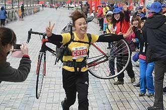 自行车比赛比力气