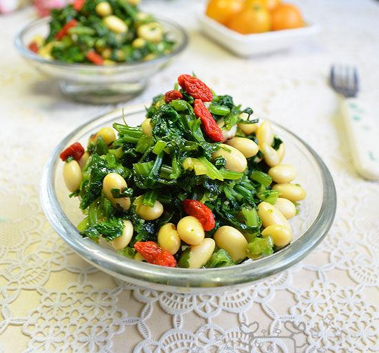 家常自制美味 清爽芹菜拌豆儿