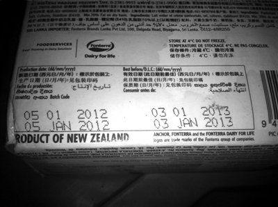 1.已经过期的乳酪仍在使用。