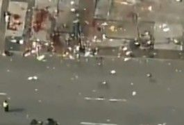 航拍美国波士顿爆炸地点