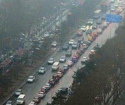 人民大街封闭施工