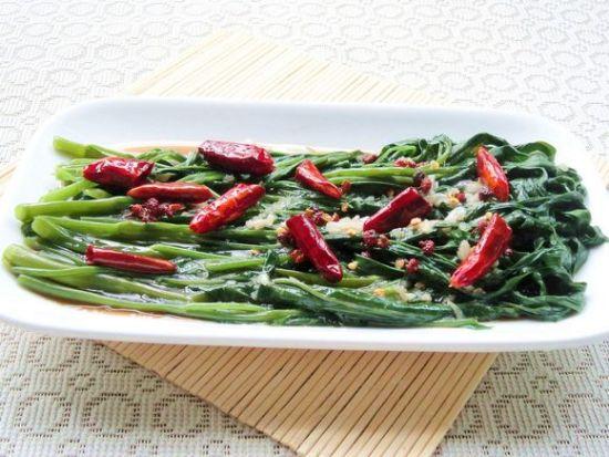 教你做家常美味 炝拌空心菜