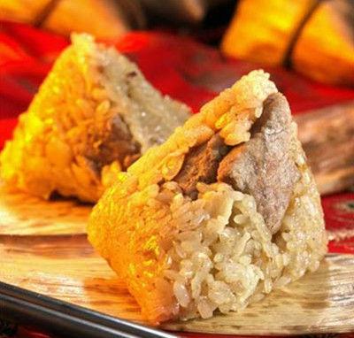 端午粽飘香 绿豆鸭蛋粽子