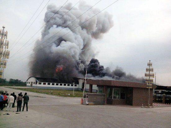 德惠米沙子爆炸事故现场