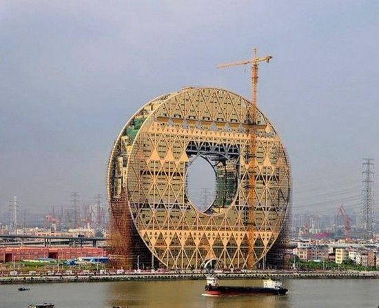 """广州""""铜钱大楼""""10万元征名命名为""""广州圆大厦"""""""