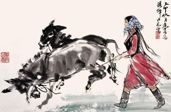 著名画家杨秀坤是黄胄先生的得意弟子图片