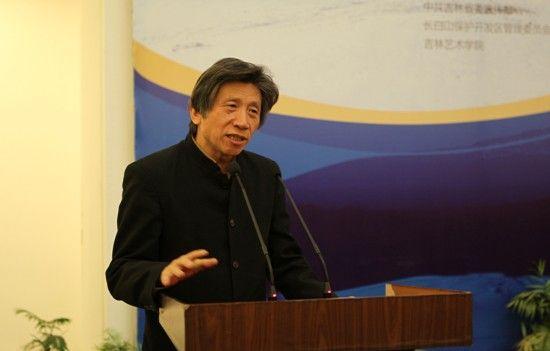 中国美术馆馆长范迪安在仪式上致辞。