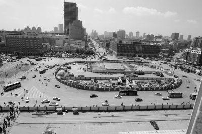 改造中的站前南广场