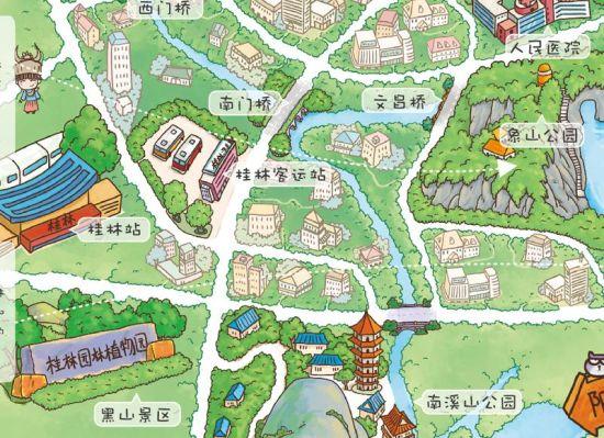 《q版桂林》套系由《桂林手绘地图》和《桂林美食册