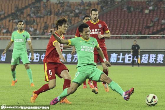 中超12轮胡斯蒂制胜球 长春1-0客胜杭州