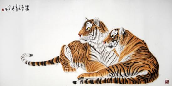 临摹画素材老虎
