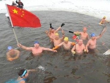 南湖冬泳迎新年